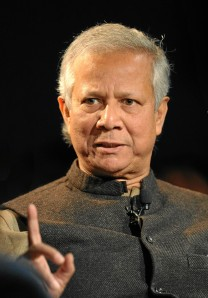 Muhammad Yunus, Photo by Michael Wuertenberg