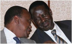 Uhuru kenyatta and Raila Odinga, the two that are likely to win