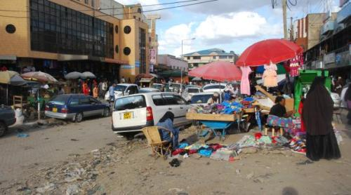 The Somali neighborhood Eastleigh in Nairobi