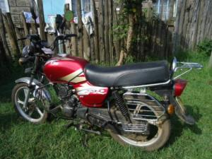 TVS motorcycle,one of the brands Rapheal purchases