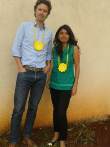 Deepali of Solataa with Founder od Little sun Frederik Ottesen in Nairobi