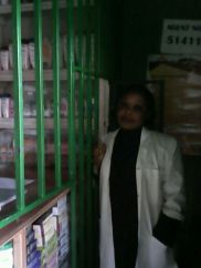 Esther at her pharmacy