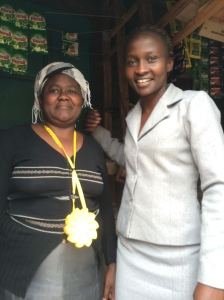 Bayollah Malesi from MYC4's office in Nairobi presented Mama Anne with a solar powered lamp.