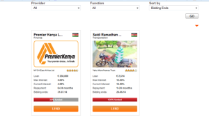 The Premier Kenya whole sale loan on the platform