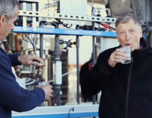 Bill Gates drinks water processed from human waste